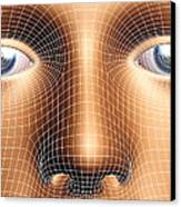 Face Biometrics Canvas Print