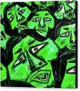 Faces - Green Canvas Print