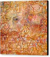 Faces On An Icon Canvas Print by Pg Reproductions