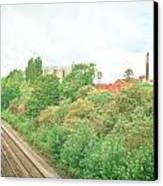 Factory And Trainlines Canvas Print by Tom Gowanlock