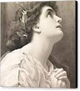Faith Canvas Print by Frederic Leighton