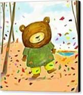 Fall Bear Canvas Print