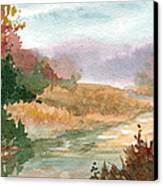 Fall Stream Study Canvas Print by Sean Seal