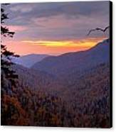 Fall Sunset Canvas Print by Charles Warren