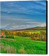 Fall Vermont Farm Canvas Print by Mike Horvath
