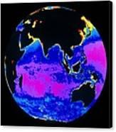 False Colour Image Of The Indian Ocean Canvas Print by Dr Gene Feldman, Nasa Gsfc