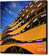 Fancy Cardiff Carpark Facade Canvas Print