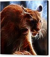 Fantasy Cougar Canvas Print by Paul Ward