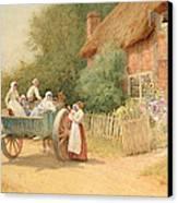 Farewell Canvas Print by Arthur Claude Strachan