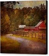 Farm - Barn - Rural Journeys  Canvas Print by Mike Savad