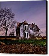 Farm House At Night Canvas Print