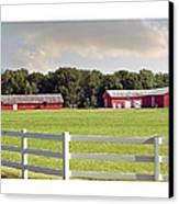 Farm Pasture Canvas Print by Brian Wallace