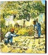 Farm Scene Canvas Print by Sumit Mehndiratta