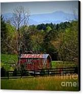 Farm With A View Canvas Print by Crystal Joy Photography