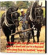 Farming Looks Easy Canvas Print by Ian  MacDonald