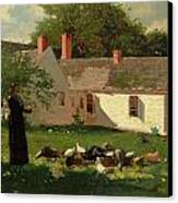 Farmyard Scene Canvas Print by Winslow Homer