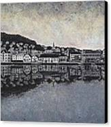 Farsund Waterfront Canvas Print by Janet King