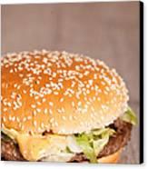 Fat Hamburger Sandwich Canvas Print by Sabino Parente