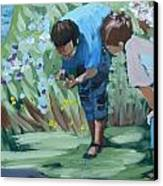 Father And Son Detail Of Spring 1 Canvas Print by Jan Swaren