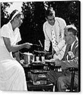 Fdr Presdidency. First Lady Eleanor Canvas Print by Everett
