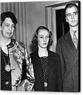 Fdr Presidency. From Left First Lady Canvas Print
