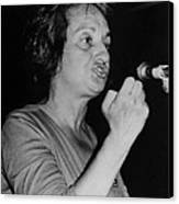 Feminist Author Betty Friedan Speaking Canvas Print by Everett