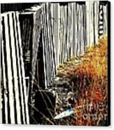 Fence Abstract Canvas Print by Joe Jake Pratt