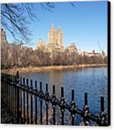 Fence With Twin Towers, San Remo Canvas Print