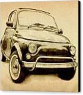 Fiat 500l 1969 Canvas Print by Michael Tompsett