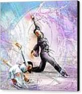 Figure Skating 02 Canvas Print by Miki De Goodaboom