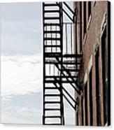 Fire Escape In Boston Canvas Print