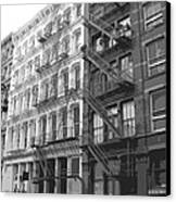 Fire Escapes Bw6 Canvas Print by Scott Kelley