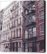 Fire Escapes Color 6 Canvas Print by Scott Kelley