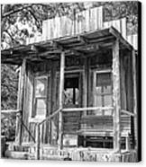 Fireman Cottage B And W Canvas Print by Douglas Barnard