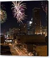 Fireworks Over The City Canvas Print