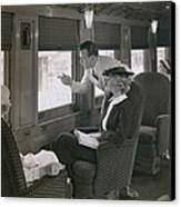 First Class Passengers In An Canvas Print