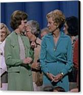 First Ladies Rosalynn Carter With Betty Canvas Print by Everett