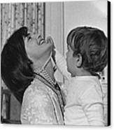 First Lady Jacqueline Kennedy Laughs Canvas Print by Everett