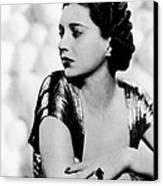 First Lady, Kay Francis, 1937 Canvas Print