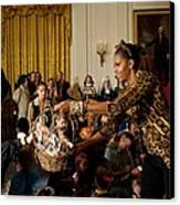 First Lady Michelle Obama Hands Canvas Print by Everett