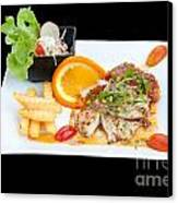 Fish Steak Canvas Print by Atiketta Sangasaeng