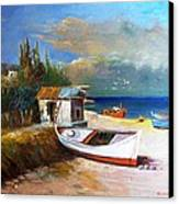 Fisherman's Cottage Canvas Print by George Siaba