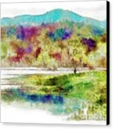Fishing - Watson Lake Canvas Print by Arne Hansen