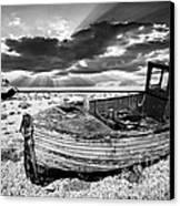 Fishing Boat Graveyard Canvas Print by Meirion Matthias