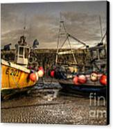 Fishing Boats On The Cobb Canvas Print