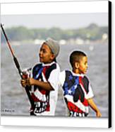 Fishing Brothers Canvas Print