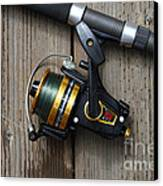 Fishing Rod And Reel . 7d13542 Canvas Print by Wingsdomain Art and Photography