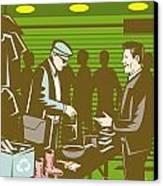 Flea Market Selling Trading Retro Canvas Print by Aloysius Patrimonio
