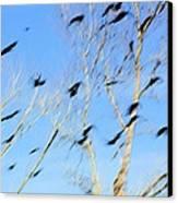 Flocking Crows Canvas Print by Viktor Savchenko
