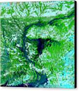 Flooding In Bangladesh Canvas Print by Nasa
